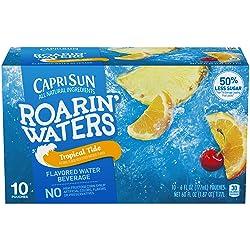 Capri Sun Roarin' Waters Tropical Fruit Juice Drink (6 oz Pouches, 10 Count)
