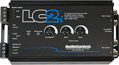 $139 » AudioControl LC2i 2 Channel Line Out Converter with Accubass and Subwoofer Control, ACR-1 Dash Remote