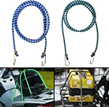 Autofy Multipurpose Ultra Flexible Bungee Rope/Luggage Strap/Bungee Cord with 12 MM Diameter and Metal Hooks (Multicolored...