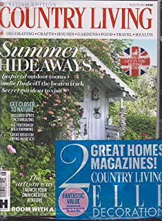 Country Living British Edition Magazine August 2018 Plus Elle Decoration August 2018 Two Pack