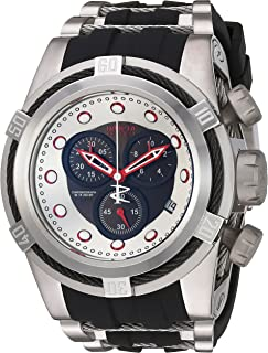Invicta Men's Bolt Stainless Steel Quartz Watch with Silicone Strap, Two Tone, 34 (Model: 22160)