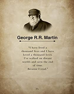H+CO Inspired - George R.R. Martin - Wall Art Book Quote Print- I have lived a Thousand Lives - 11inch x 14inch - Perfect gift for Game of Thrones Fan