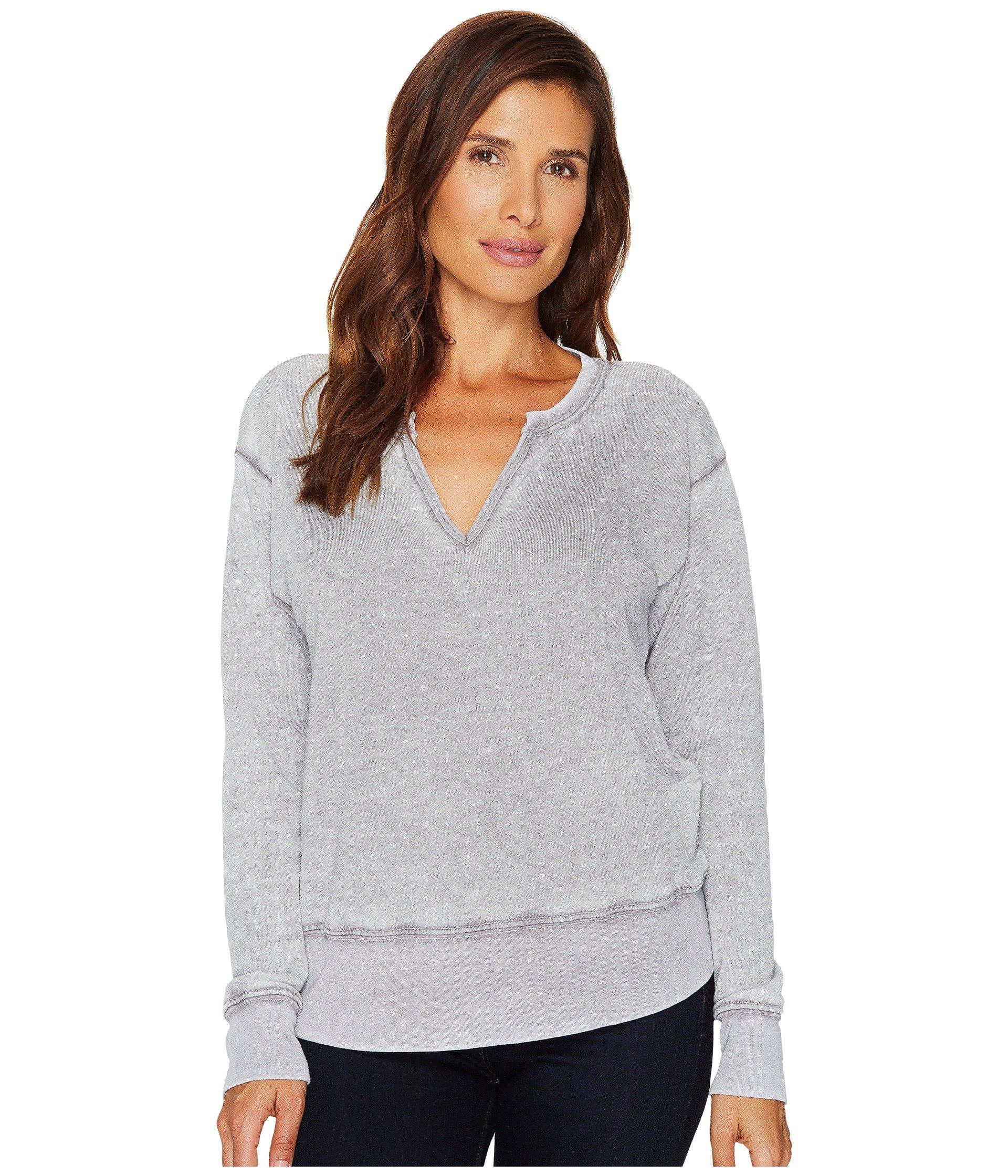Allen Allen Split-Neck Sweatshirt