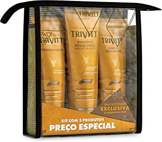 3 Piece Hair Care Kit with Shampoo 280ml, Conditioner 250ml and Leave-In Moisturizing Cream 250ml for Colored and Chemically Treated Hair with Natural Oils - Professional Trivitt by Itallian Hairtech