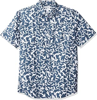 [Amazon Essentials] コットン リネン レギュラーフィット 半袖 シャツ メンズ