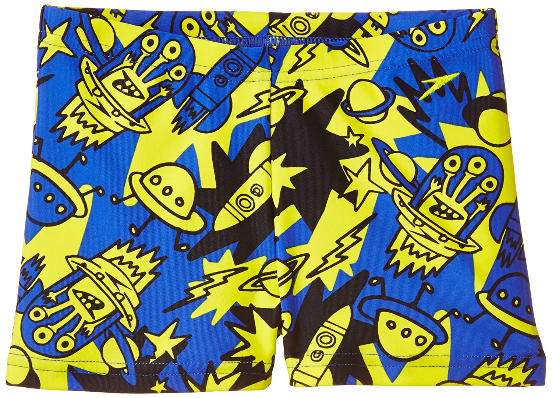 Speedo Boys 'Essential Allover Aquashortプリント2 - 美しいブルー/ネイビー/ワイルドライム、1年