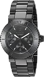 Invicta Women's Gabrielle Union Quartz Watch with Stainless-Steel Strap, Black, 20 (Model: 22952)