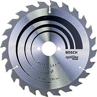Bosch 2608640618 Optiline trä cirkelsåg blad, 200 mm x 2,8 mm x 30 mm, 24 tänder, silver