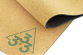 Luxury Cork Yoga Mat - Large Thick & Wide Natural Rubber Mats - Organic Non Toxic Eco Friendly Material - Non Slip Sweat Absorbent Extra Long Exercise Foldable Travel Mat for Pilates - 72