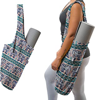 Yoga Mat Bag | The Original YogiiiTote | Yoga Mat Tote Sling Carrier with Large Side Pocket & Zipper Pocket | Fits Most Size Mats