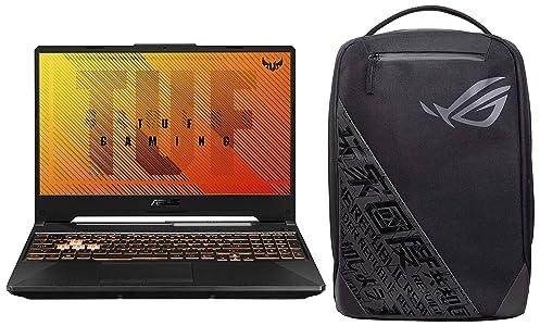 "ASUS TUF Gaming A15 Laptop 15.6"" FHD AMD Ryzen 7 4800H, GTX 1650 4GB GDDR6 Graphics (16GB RAM/1TB HDD + 256GB NVMe SSD/Windows 10/Bonfire Black/2.30 Kg), FA506IH-BQ182T"