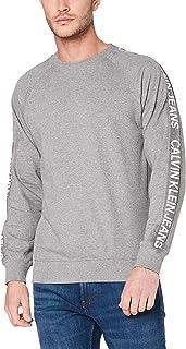 Calvin Klein Jeans Men's Institutional Side Stripe Crew Neck Sweatshirt