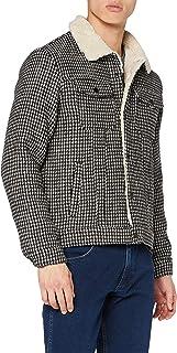 Scotch & Soda Men's Sherpa Lined Wool-Blend Houndstooth Trucker Jacket
