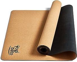 Yogibato Yoga Mat Kurk & Natuurlijk Rubber - anti-slip en niet giftig - mat voor gymnastiek Yoga Pilates - rubberen kurkma...