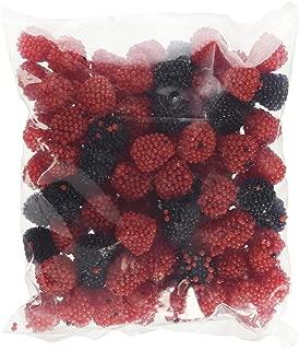Gummy Candy Red & Black Raspberries, 1 Lb