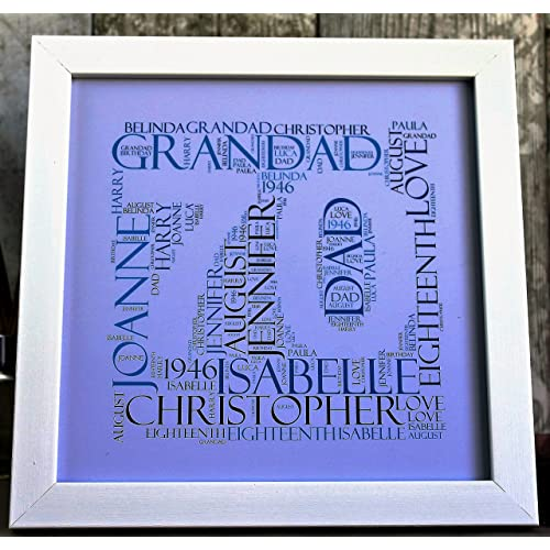 MadeAt94 Personalised 70th Birthday Frame Grandad Dad StepDad Gift