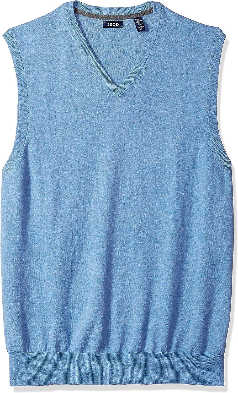 IZOD Men's Big and Tall Premium Essentials Solid V-Neck 12 Gauge Sweater Vest (Discontinued)