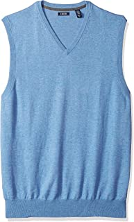 IZOD Men's Big and Tall Premium Essentials Solid V-Neck...