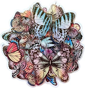 Dream Butterfly Decorative Adhesive Sticker, Craft Scrapbooking Sticker Set for Diary, Album, Notebook, Planner, 40 PCS