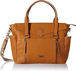 Storksak Emma Leather Shoulder Bag Diaper Bag, Tan