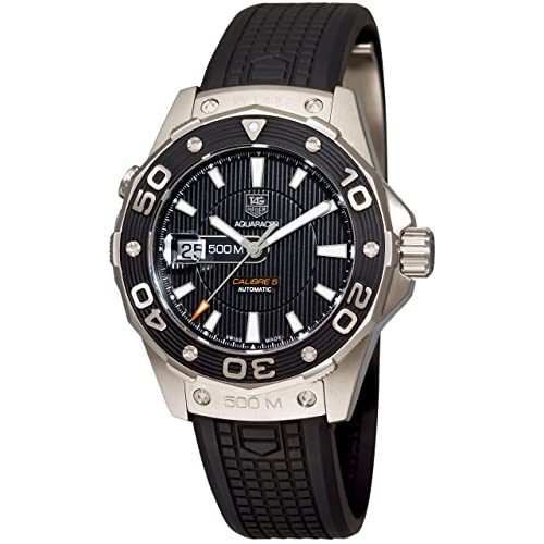 TAG Heuer Mens WAJ2110.FT6015 Aquaracer Calibre 5 Automatic 500M Black Rubber Watch