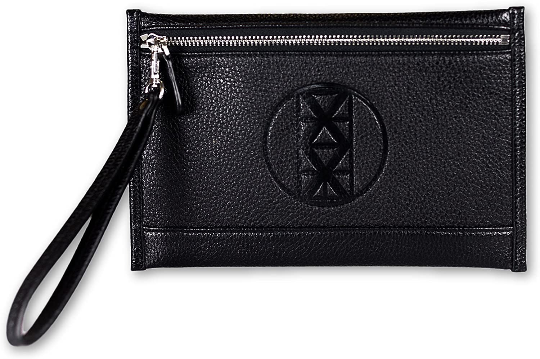 AMMA JO Signature Clutch Wallet (Black)