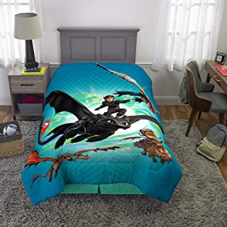 """Franco Kids Bedding Super Soft Microfiber Comforter, Twin Size 64"""" x 86"""", How to Train Your Dragon"""