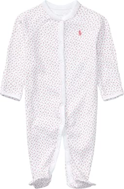 Interlock Floral One-Piece Coveralls (Infant)