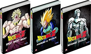 Dragonball Z Triple Steelbook Collection - Super Android 13/Bojack Unbound/Cooler's Revenge/Return of Cooler/Broly / Broly Second Coming / Bio-Broly 7-Movie Bundle