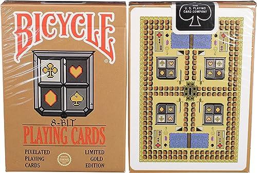 moda Bicycle 8-Bit oro Playing Cards Cards Cards  salida para la venta