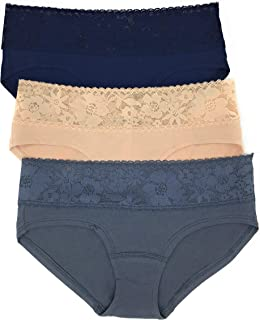 Lace Waist Hiphugger Panty Set of 3