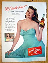 1946 Royal Crown Cola Rita Hayworth-Sex Symbol-Original 13.5 * 10.5 Magazine Ad