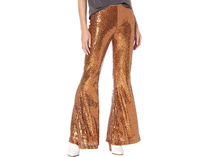 Rock and Roll Cowgirl 72-7675 Copper Sequin Bell Bottoms