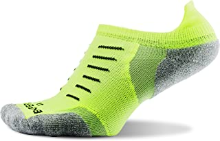Thorlo mens Experia® Thin Padded Running No Show Tab Sock Running Socks - yellow - X-Small