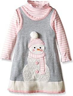 snowman jumper dress