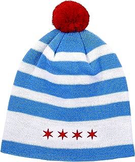Chicago Flag Beanie Cap Winter Hat