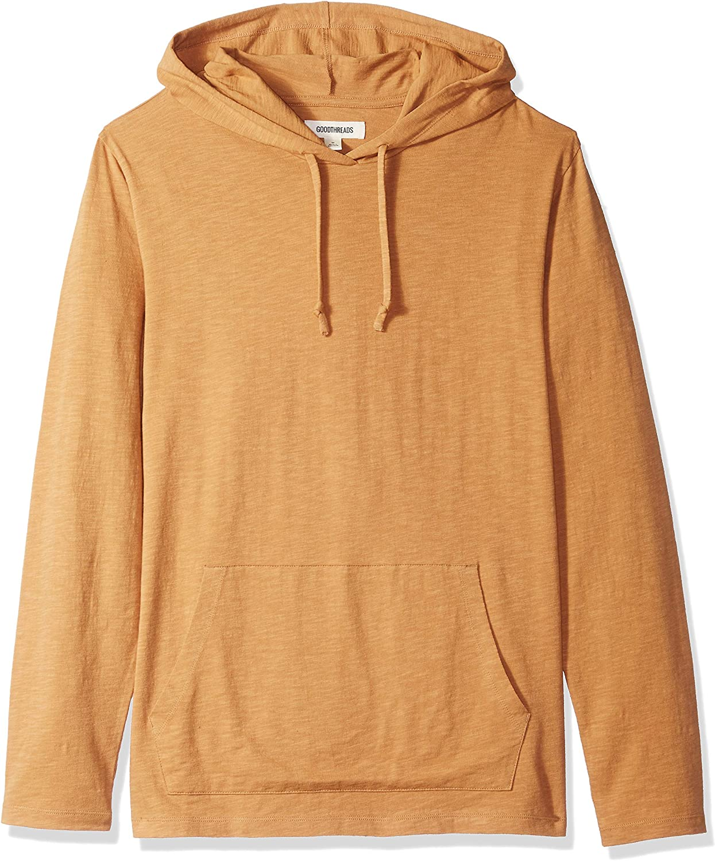 Brand - Goodthreads Men's Lightweight Slub T-Shirt Hoodie: Clothing