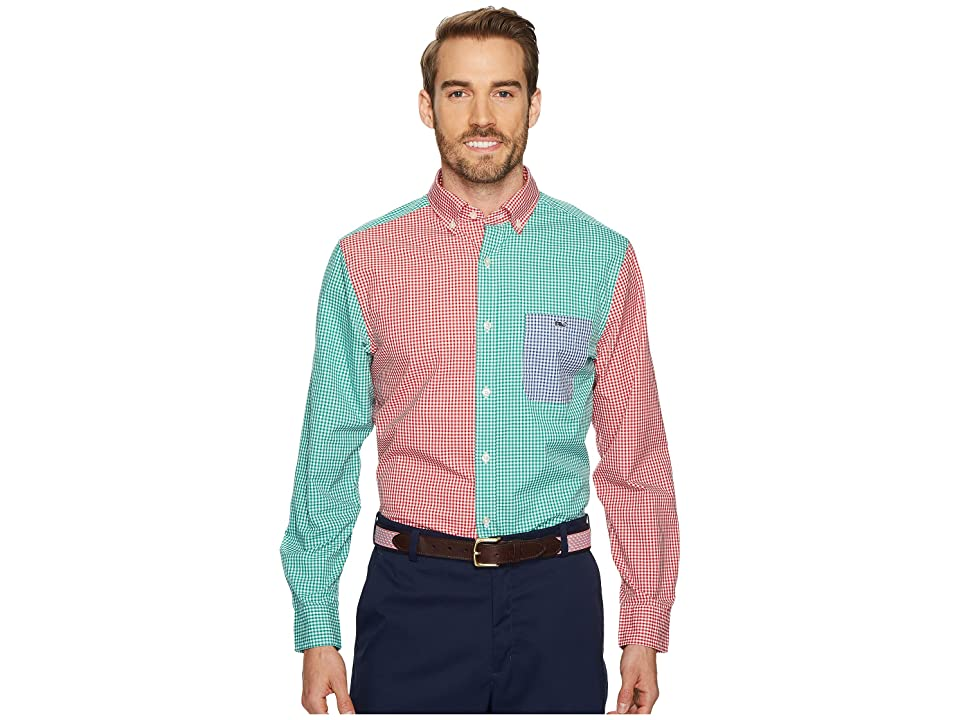 Vineyard Vines Holiday Party Classic Tucker Shirt (Multi) Men