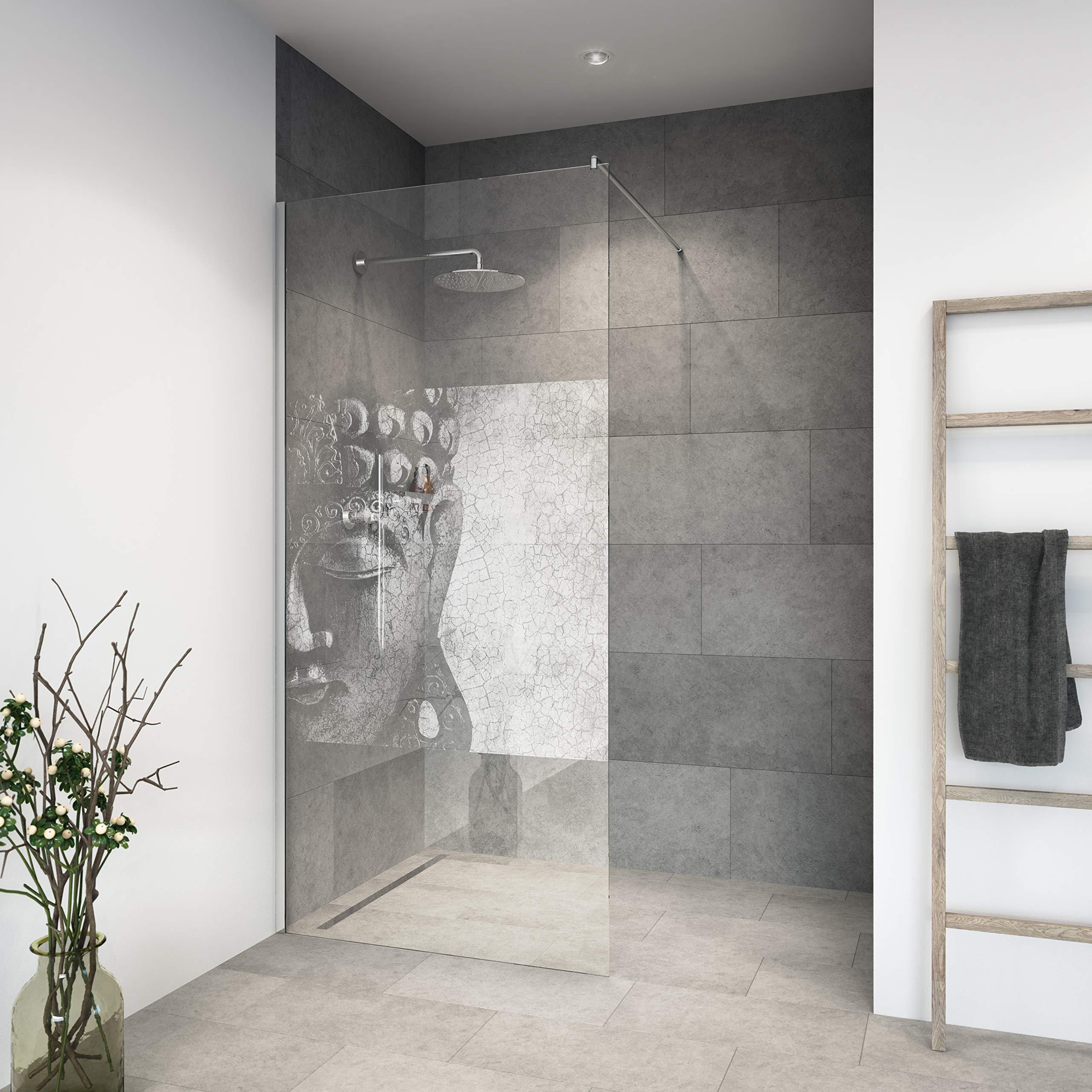 Mampara de ducha de vidrio templado con decoración LaserVision_019 ...