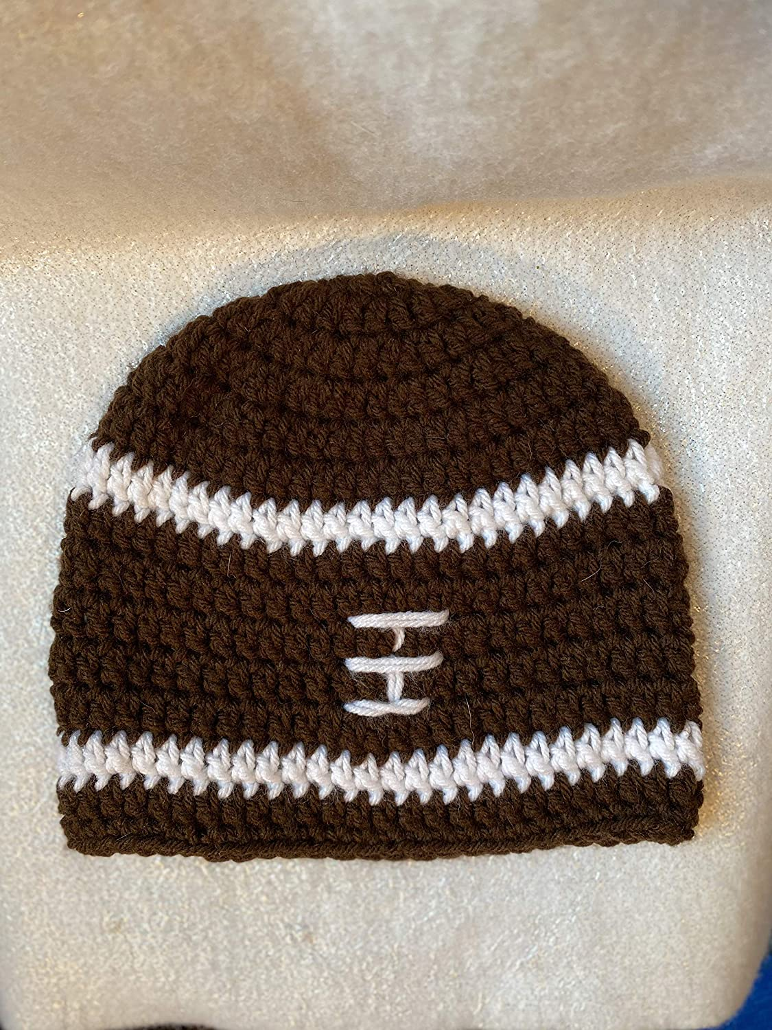 Crocheted football Price reduction Recommended hat