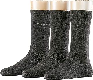 ESPRIT Socken Uni 3-Pack Baumwolle Damen schwarz grau viele weitere Farben verstärkte Damensocken ohne Muster atmungsaktiv dünn und einfarbig im Multipack 3 Paar