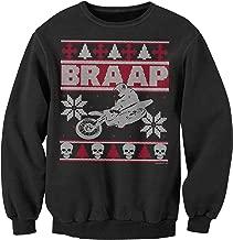 ShirtInvaders Braap Ugly Christmas Sweater - Dirt Bike Motocross - Sweatshirt