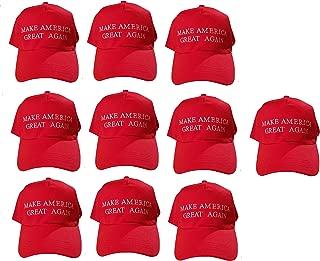 VaLuz MAGA Make America Great Again Donald Trump USA Flag Baseball Cap Hat Red