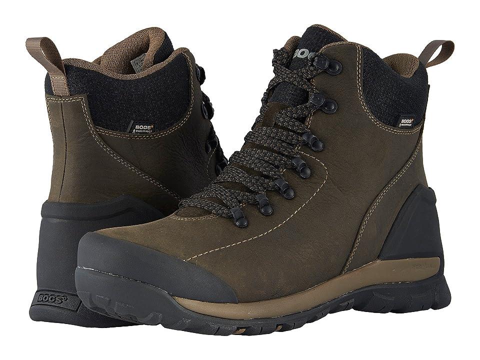 Bogs Foundation Leather Mid Waterproof Soft Toe (Brown) Men