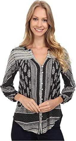 Lucky Brand Placed Paisley Top