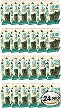 Organic Kimnori Seasoned Roasted Seaweed Snacks - 4g X 24 Pack Net 3.36 oz (96g) Kim Nori - 24 Individual Packs (Sea-Salt)
