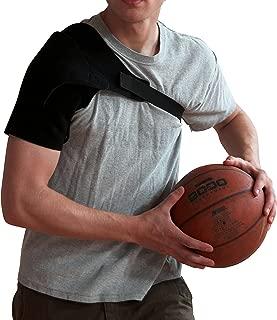 Shoulder Strap Rotator Cuff Brace - Shoulder Pain Relief Compression Sleeve Immobilizer Lightweight Adjustable Neoprene Wrap Dislocated Frozen Right Left Shoulder Women and Men Stealth Support Large