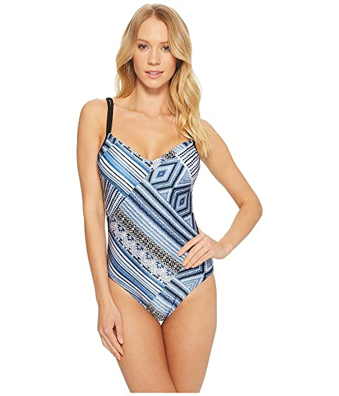 Desert Tribe Sweetheart Maillot One-Piece, Bluestone
