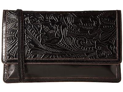 Hobo Crest (Embossed Black) Clutch Handbags