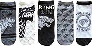 Game of Thrones Stark Juniors/Womens 5 Pack Ankle Socks Size 4-10